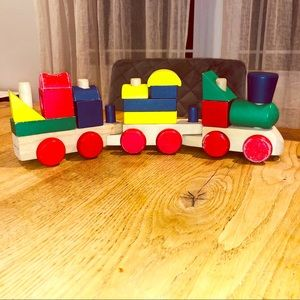 MELISSA & DOUG Classic Wooden Train Toy 🚂